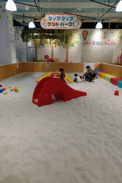 子供が気に入った室内砂場。