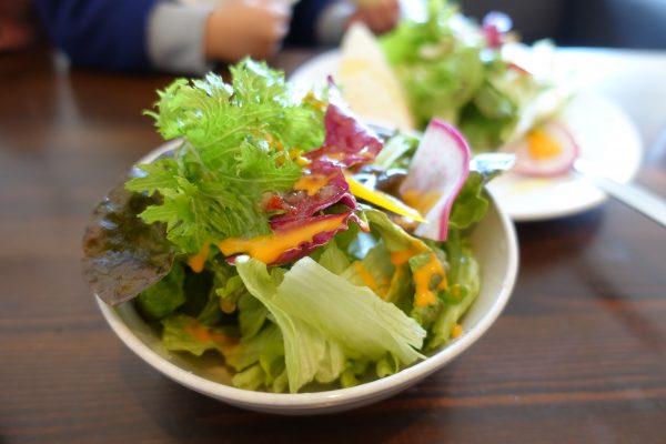 パエリアランチのサラダ。シャキシャキとした食感がおいしい!