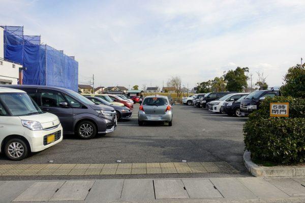 えんまどう公園の駐車場。20台しか入れないため駐車場の空き待ちになっていました。