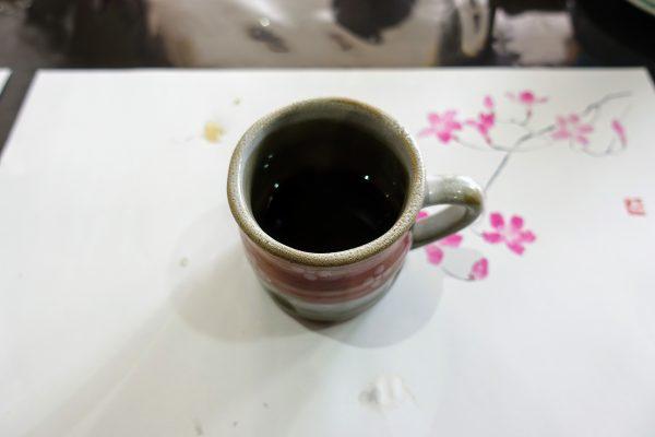 食後のコーヒー。ちょっと少なかったです(笑)