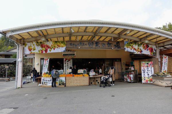 新鮮な季節のお野菜の直売所。4月は輝くいちごがたくさん売られていました!