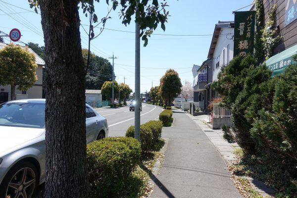 お店の前は交通量が少なく、道路沿いに停めている人のほうが多かったです。